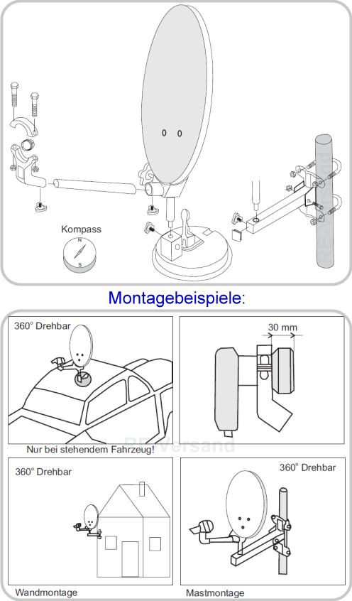 mobile hd sat anlage 12v 230v comag hd25 hdmi pvr ready. Black Bedroom Furniture Sets. Home Design Ideas