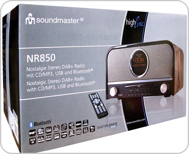 soundmaster nr850 highline stereoanlage mit bluetooth. Black Bedroom Furniture Sets. Home Design Ideas